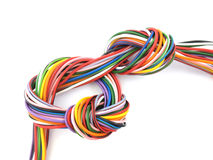 Close up of multicoloured wire. Close up of multicoloured six amp electrical wire Royalty Free Stock Photography