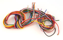 Close up of multicoloured wire Royalty Free Stock Image