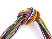 Close up of multicoloured wire. Close up of multicoloured six amp electrical wire Stock Photography