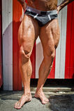 Close-up of muscular legs outdoors Stock Photos