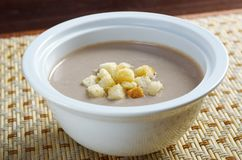 Close up of mushroom soup Royalty Free Stock Images