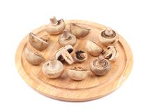 Close up of mushrooms on platter. Stock Photography