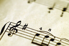 Close up of music score Stock Images