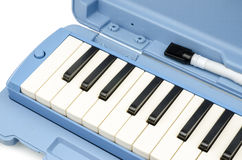 Close up of  Musical Melodica Isolated on White Background Stock Photography