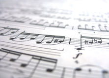 Close-up musical notes Stock Photography