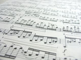 Close-up musical notes Stock Image