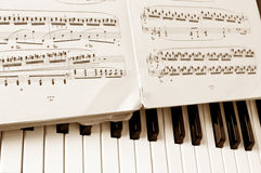 Close-up musical notes sheet Royalty Free Stock Images