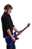 Close up of musician playing the guitar Stock Images