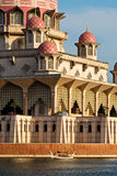 Close up of muslim mosque. At Putrajayalake, Malaysia royalty free stock image