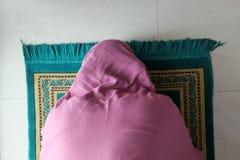 Close up of muslim women praying on ramadan