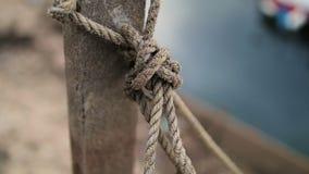 Close-up na corda do nó vídeos de arquivo