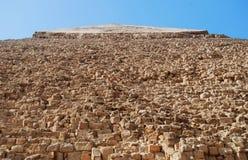 Close-up na pirâmide de Kefren no Cairo, Giza, Egito imagens de stock