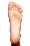 Close-up, naakte enige voet, Stock Afbeeldingen