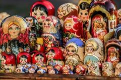 Close up nacional das bonecas de Matryoshka do russo Fotografia de Stock