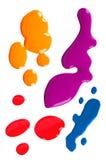 Close up of nail polish drop Royalty Free Stock Photography