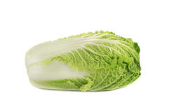 Close up of napa cabbage. Isolated over white Stock Photos
