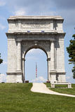 Close Up of National Memorial Arch at Vally Forge Stock Image