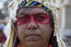Close up of Native American. Royalty Free Stock Image