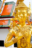 Close up Native Thai Angel Statue. In Bangkok Royalty Free Stock Photos