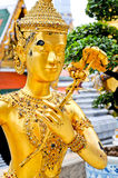 Close up Native Thai Angel Statue Royalty Free Stock Photo