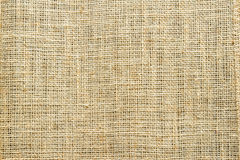 Close-up of natural burlap Royalty Free Stock Images