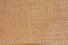 Close-up of natural burlap hessian sacking Royalty Free Stock Photography