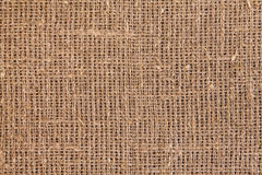 Close-up of natural burlap hessian sacking.  Royalty Free Stock Images