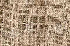 Close up of natural burlap hessian sacking for background Royalty Free Stock Photography
