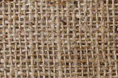 Close up of natural burlap hessian sacking for background Stock Photos