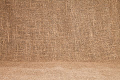Close-up of natural burlap hessian sacking. Background texture u Stock Photography