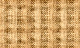 Close-up of natural burlap hessian sacking. Royalty Free Stock Photos