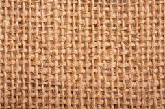 Close-up of natural burlap hessian sacking Stock Photography