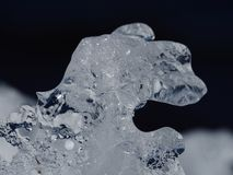 Natural ice formations. Close up of natural ice formations along the Ottawa River, Canada royalty free stock photo