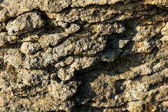 Close up of natural rock texture, outside in the scottish mountains royalty free stock photography