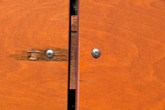 Close-up of a natural structured wooden panelling. Seen in cologne, germany Stock Photo