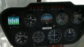Close-up of navigation dashboard helicopter stock video