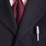 Close up necktie of Businessman Royalty Free Stock Photos