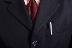 Close up necktie of Businessman Stock Photography