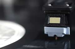 Close up of Needle on Record Player Stock Photography