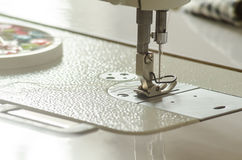 Close-up of  needle sewing machine Royalty Free Stock Photos