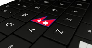 Close up of Nepal button. Royalty Free Stock Photography
