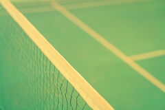 Close up of net in badminton court . ( Filtered image processed Stock Photography