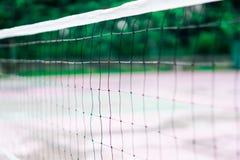 Close up net at badminton court stock image