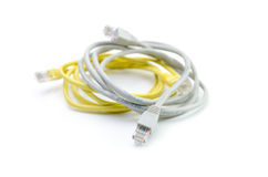 Close up of network cable and plugs Stock Image