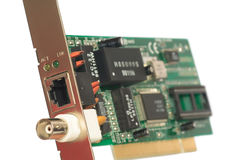Close-up of network-card Stock Photo