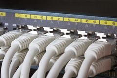 Close up of Network Switch Royalty Free Stock Photos