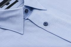 Close up of new business shirt. For men on white background Stock Photo