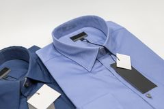 Close up of new business shirt for men Royalty Free Stock Image
