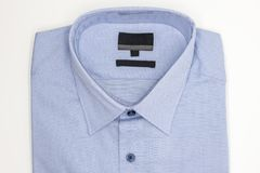 Close up of new business shirt for men on white Stock Photos