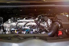 Close up of a car engine. Close up of a new car engine Royalty Free Stock Photography